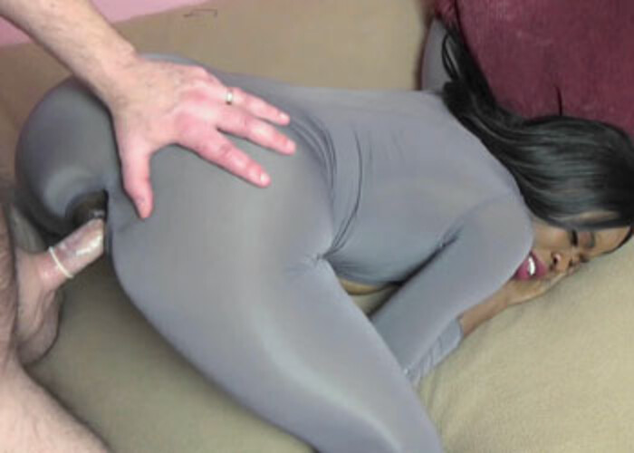 Melody's getting nailed in her sexy catsuit